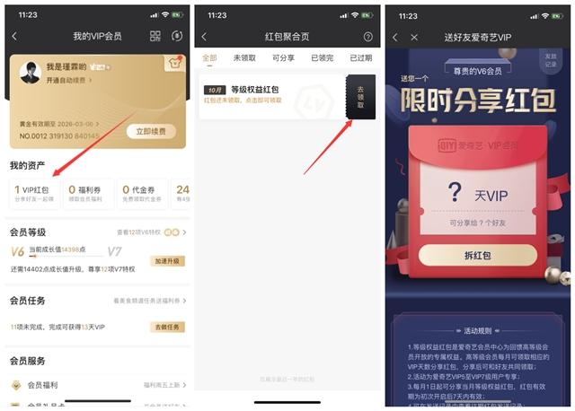 爱奇艺Vip5以上用户免费发爱奇艺VIP红包-90咸鱼网