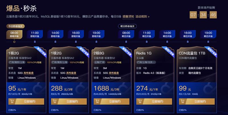 腾讯云年中大促95元购买1年服务器 1元购买1年xyz域名-90咸鱼网
