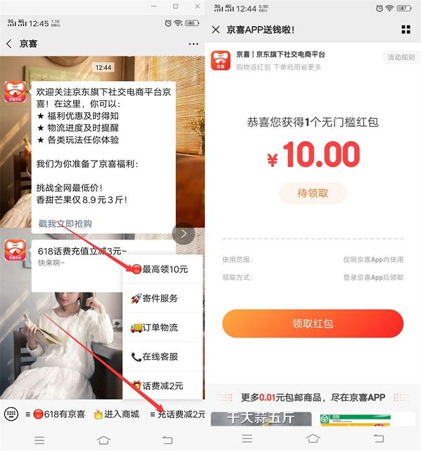 京喜新用户免费领取10元无门槛消费卷-90咸鱼网