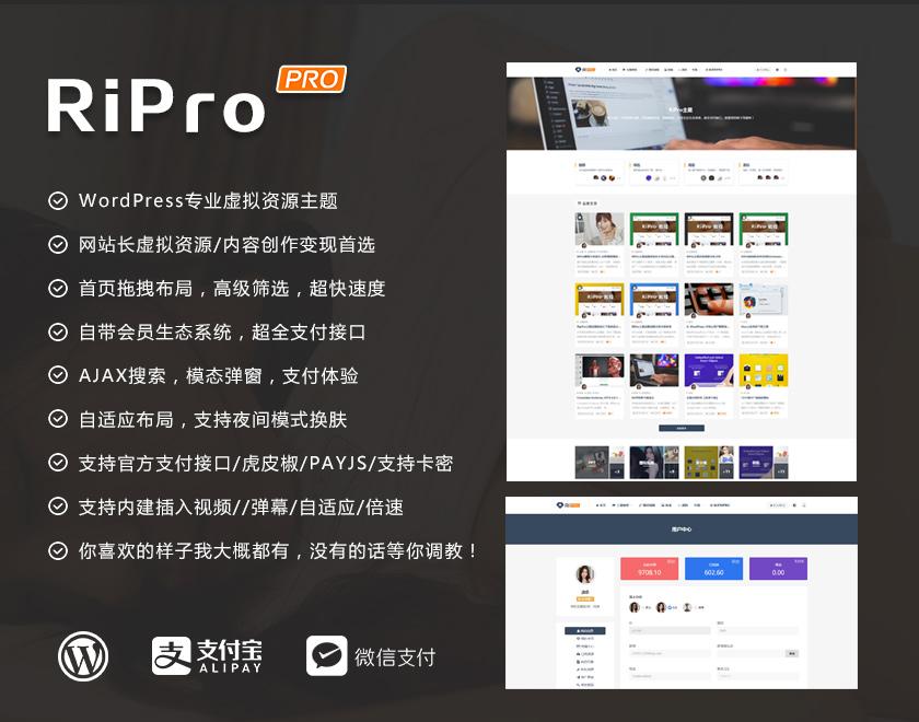 WordPressRipro6.9破解版无限制版去下载【未测试】-90咸鱼网